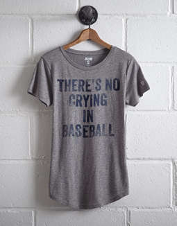 Tailgate Women's No Crying In Baseball Graphic Tee