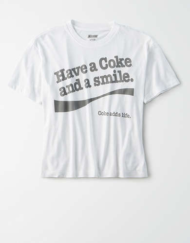 Tailgate Women's Coca-Cola Cropped Graphic T-Shirt