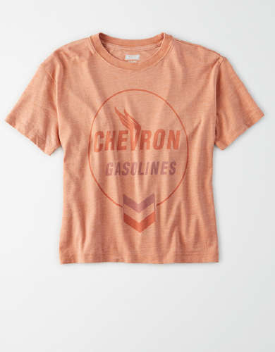 Tailgate Women's Chevron Cropped T-Shirt