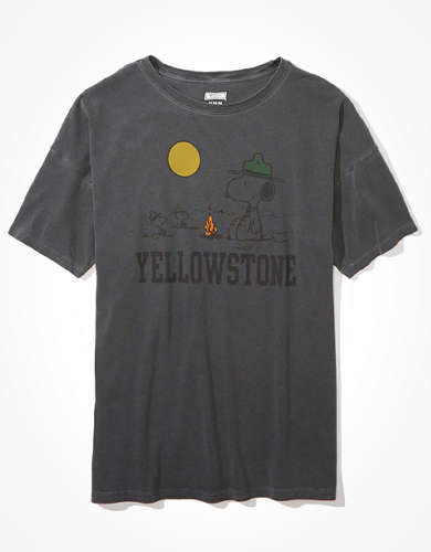 Tailgate Women's Peanuts Yellowstone Oversized T-Shirt