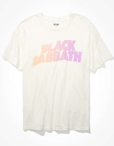 Tailgate Women's Black Sabbath Oversized Graphic T-Shirt