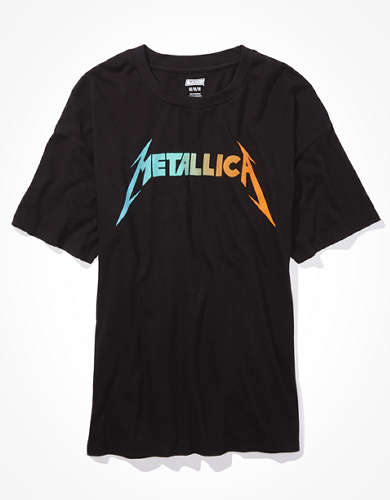 Tailgate Women's Metallica Oversized Graphic T-Shirt