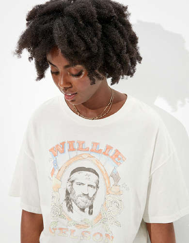 Tailgate Women's Willie Nelson Oversized Graphic T-Shirt