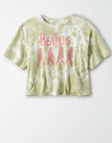 Tailgate Women's The Beatles Tie-Dye Cropped T-Shirt
