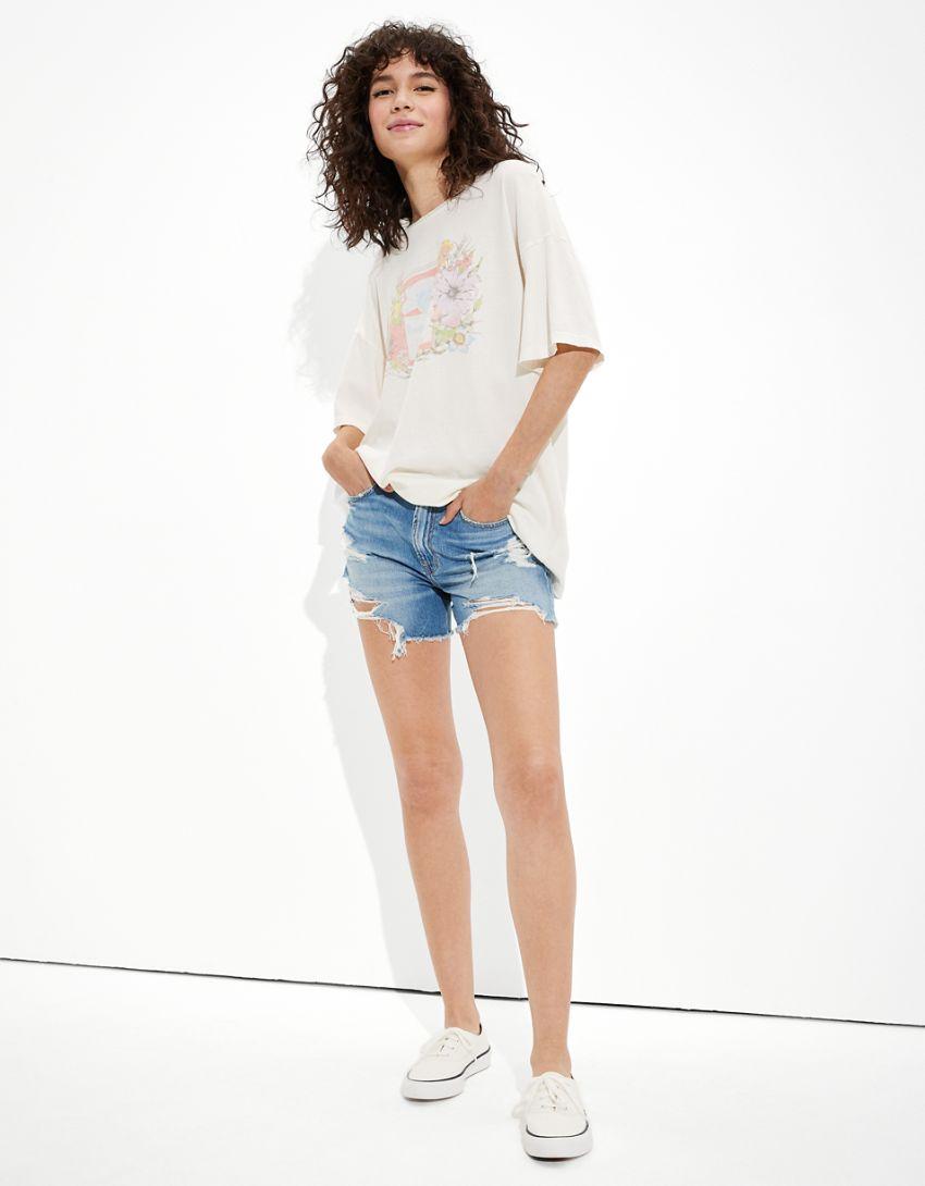 Tailgate Women's Budweiser Oversized Graphic T-Shirt