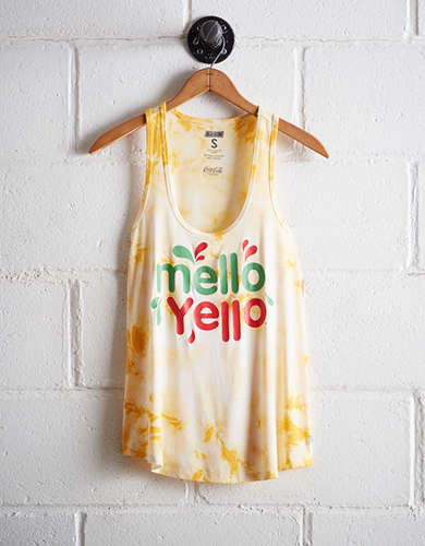 Tailgate Women's Mello Yello Tie-Dye Scoop Neck Tank - Free Returns
