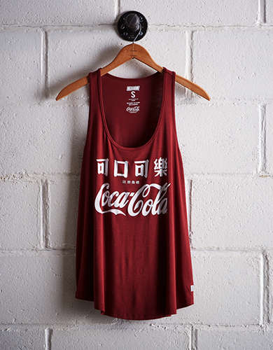 Tailgate Women's Coca-Cola Scoop Neck Tank - Free Returns