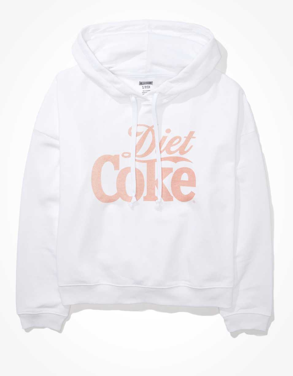 Tailgate Women's Diet Coke Cropped Fleece Hoodie