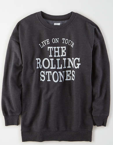Tailgate Women's Rolling Stones Oversized Fleece Sweatshirt