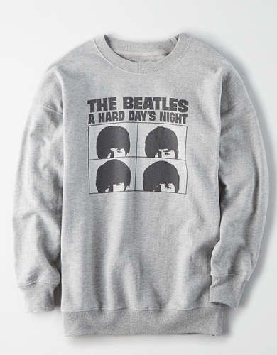 Tailgate Women's The Beatles Oversized Fleece Sweatshirt