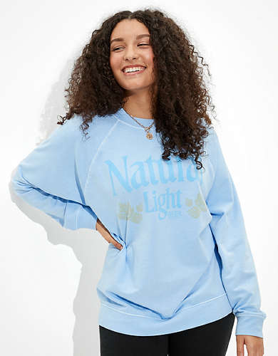 Tailgate Women's Natural Light Oversized Sweatshirt