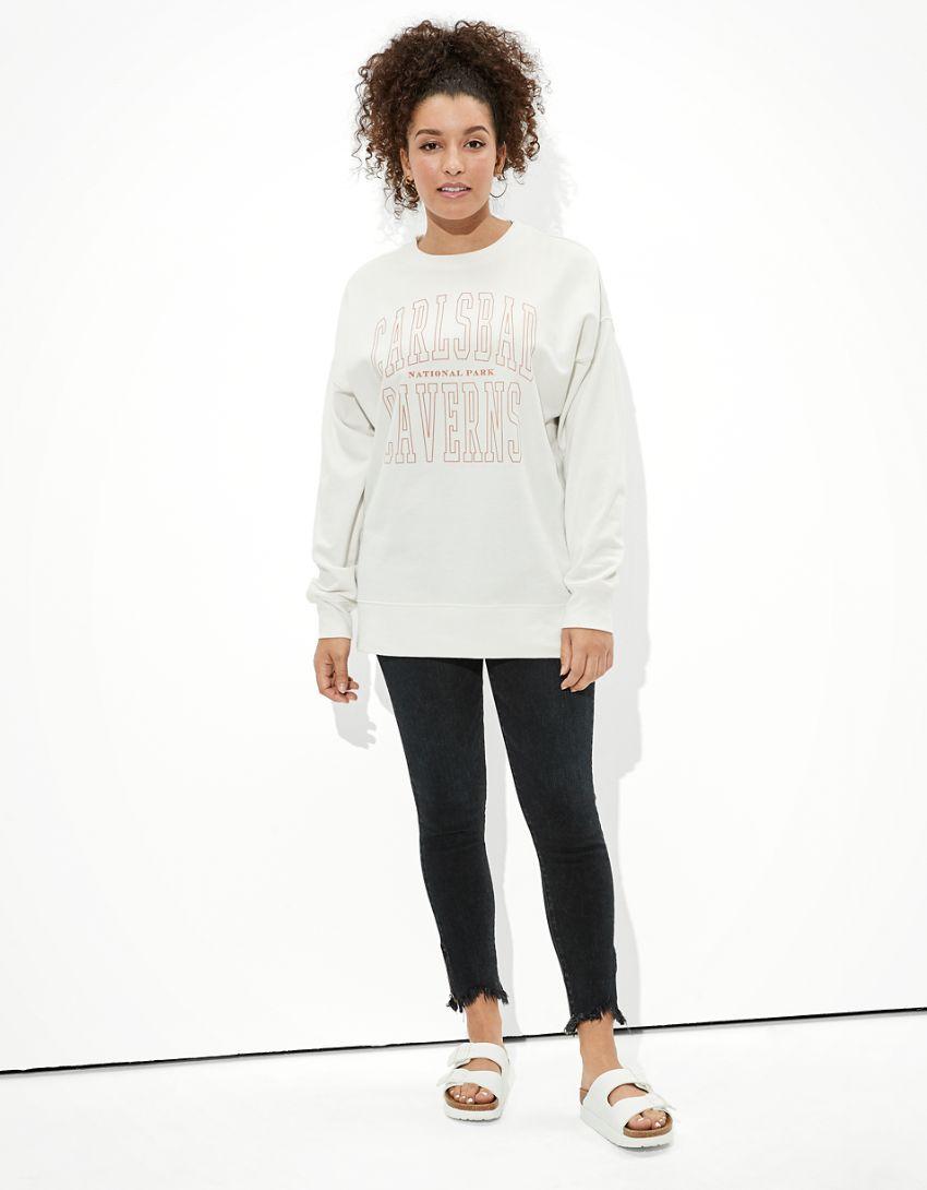 Tailgate Women's Carlsbad Caverns Oversized Sweatshirt