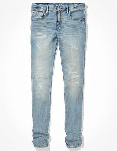 AE AirFlex+ Temp Tech Patched Stacked Skinny Jean