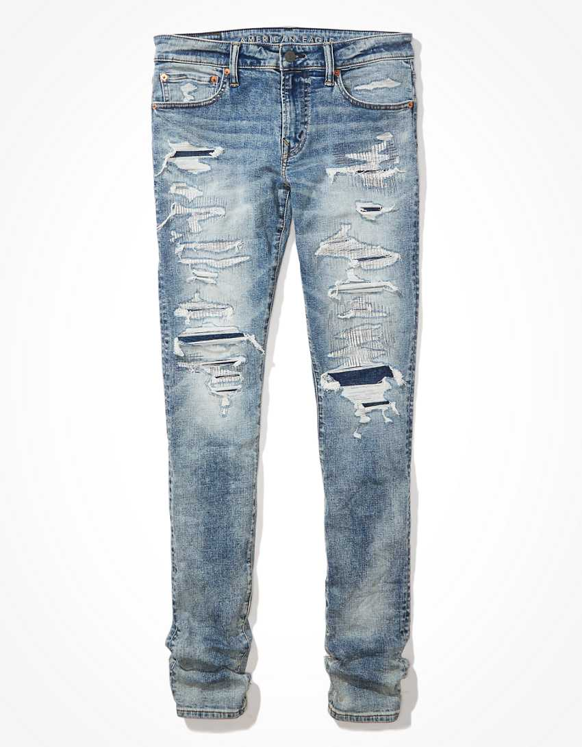 AE AirFlex+ Patched Stacked Skinny Jean