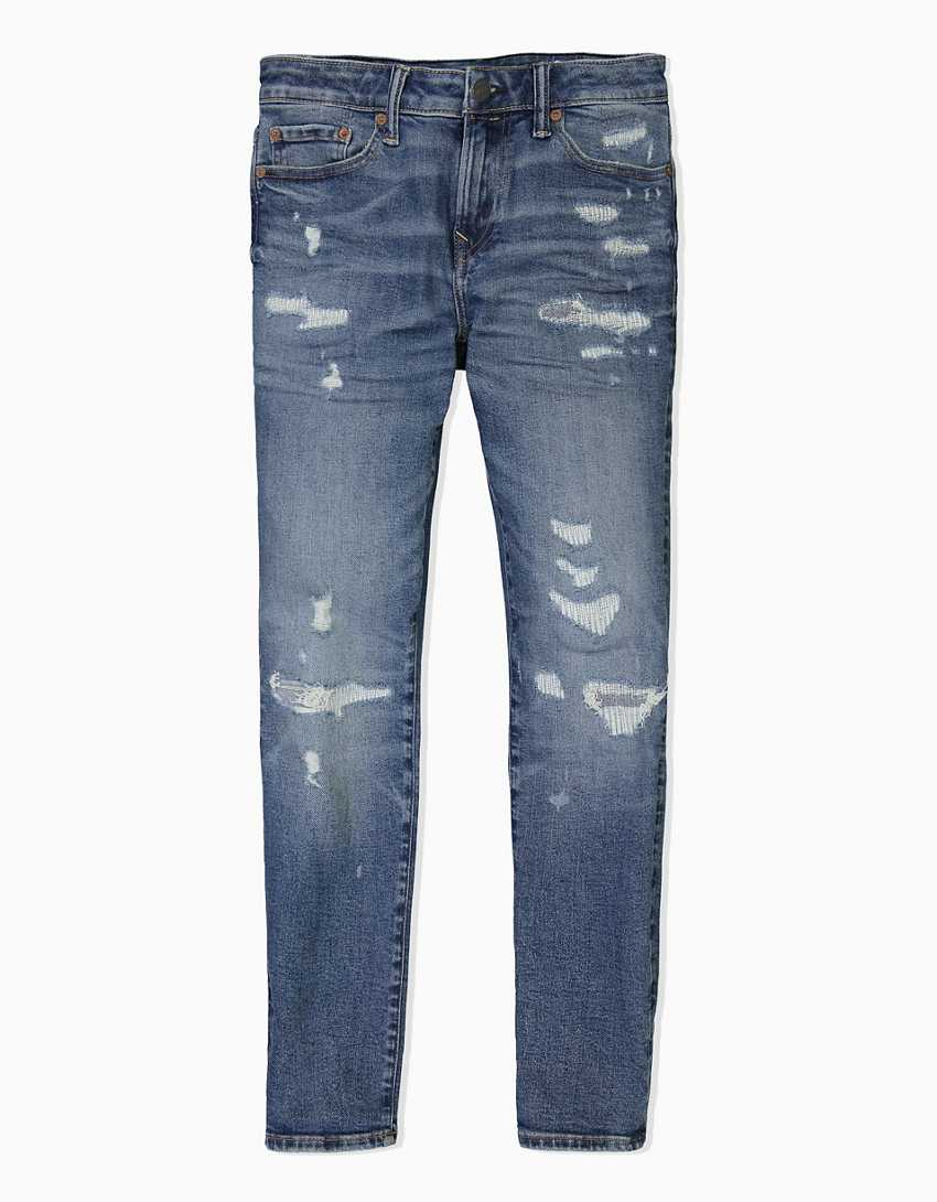 AE AirFlex+ Patched Skinny Cropped Jean