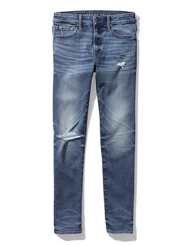 AE AirFlex+ Ripped Skinny Cropped Jean