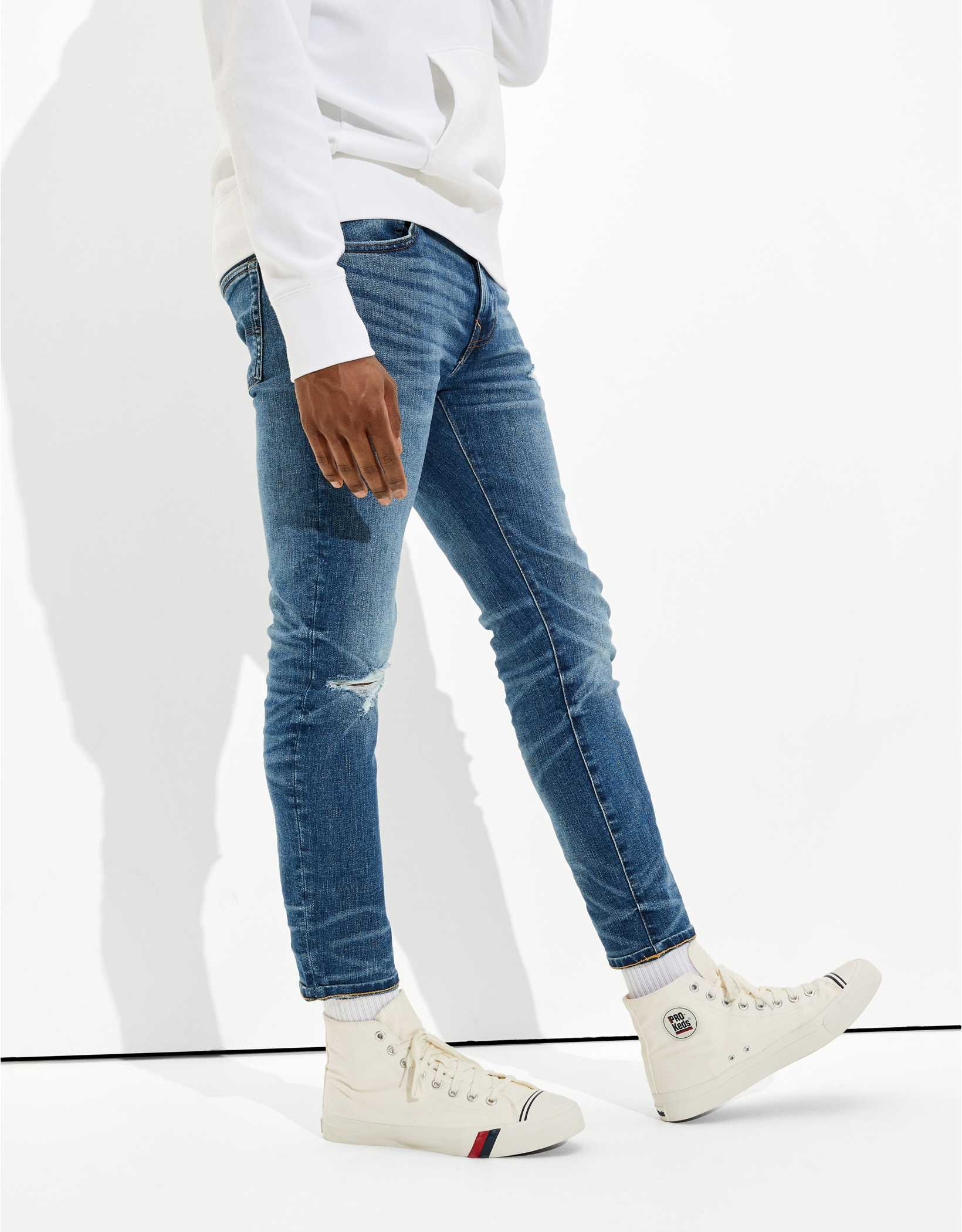AE AirFlex+ Ripped Skinny Cropped Jean