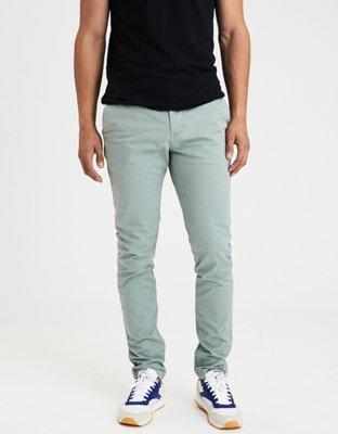 AE Ne(X)t Level Slim Khaki Pant, Campus Khaki | American Eagle Outfitters
