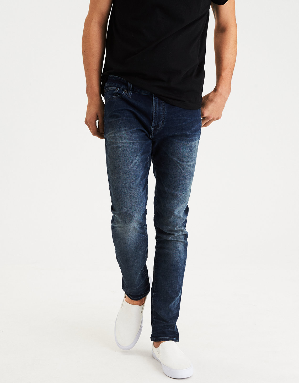 Ae Ne X T Level Skinny Jean Dark Wash American Eagle Outfitters