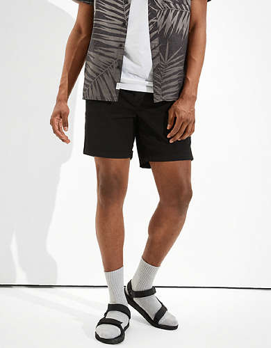 AE Tech Twill Move-Free Khaki Short