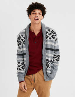 Ae Waffle Shawl Cardigan by American Eagle Outfitters