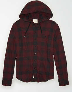AE Flannel Hooded Shirt