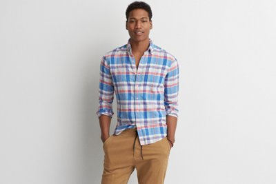 Classic Plaid Linen Shirt