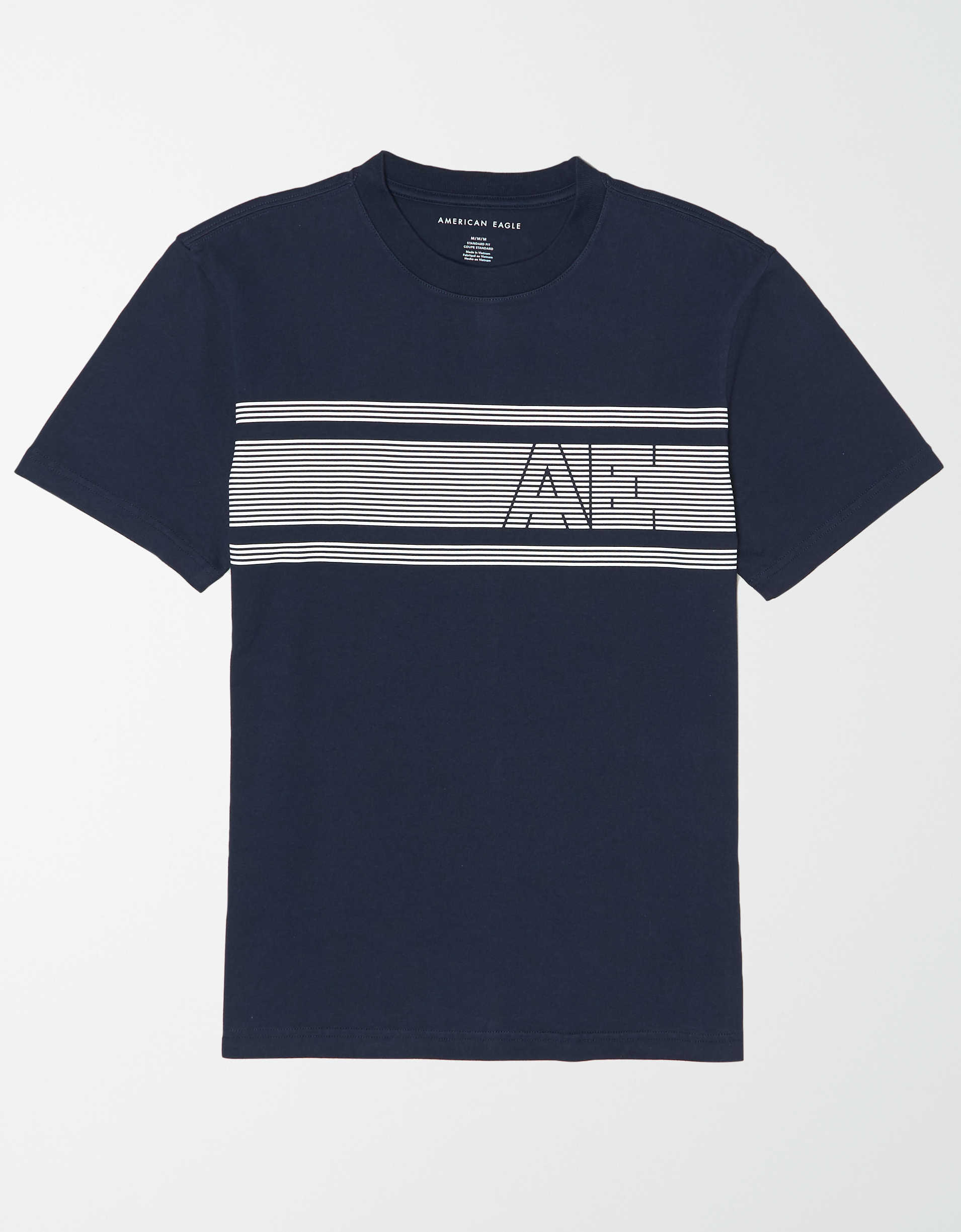 AE Chest Stripe Graphic T-Shirt