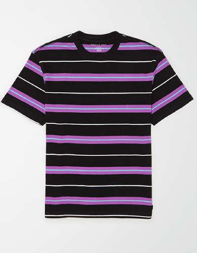 AE Drop-Shoulder Heavyweight Striped T-Shirt