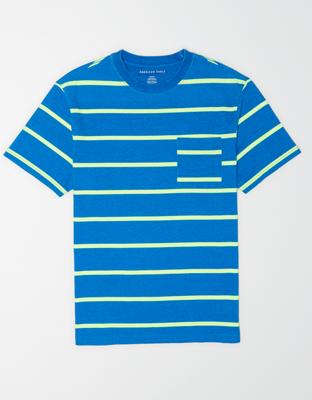 AE Полосатая футболка с коротким рукавом и карманом