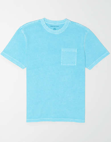AE Vintage Wash Dye Effect Pocket T-Shirt
