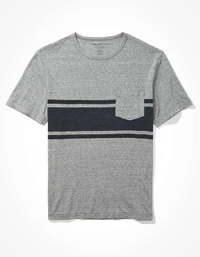 AE Super Soft Striped Tri-Blend T-Shirt