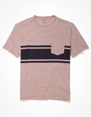 AE Super Soft Striped Tri-Blend T-Shirt