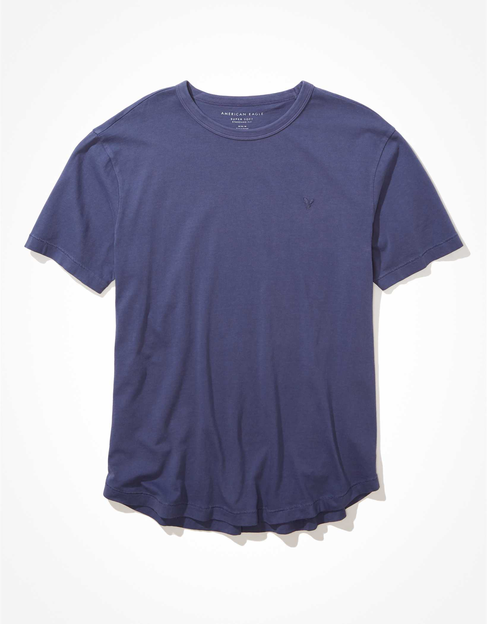 .97 AE Super Soft Curved Hem Icon T-Shirt + Free shipping over  at American Eagle!