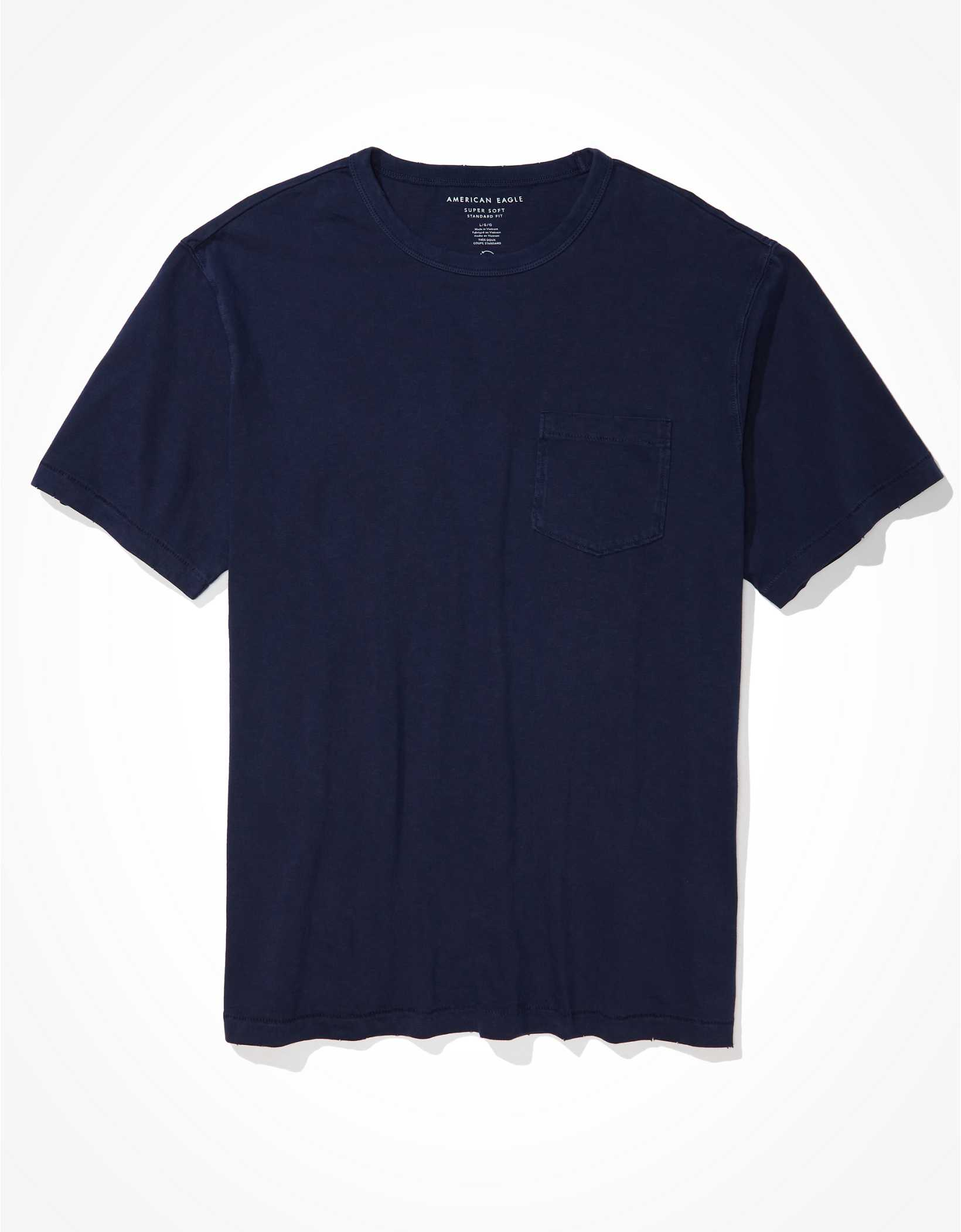 .99 AE Super Soft Pocket T-Shirt + Free shipping over  at American Eagle!