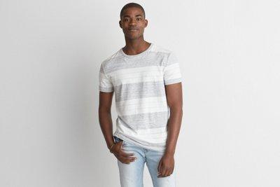 Flex Short Sleeve Wide Stripe T-Shirt