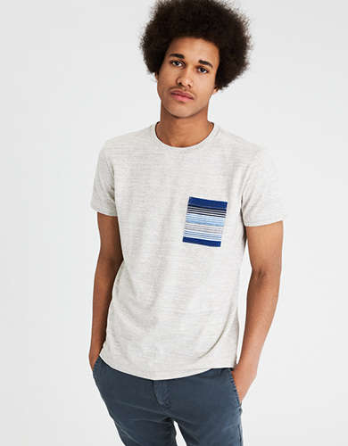 AE SHORT SLEEVE PRINTED POCKET T-SHIRT