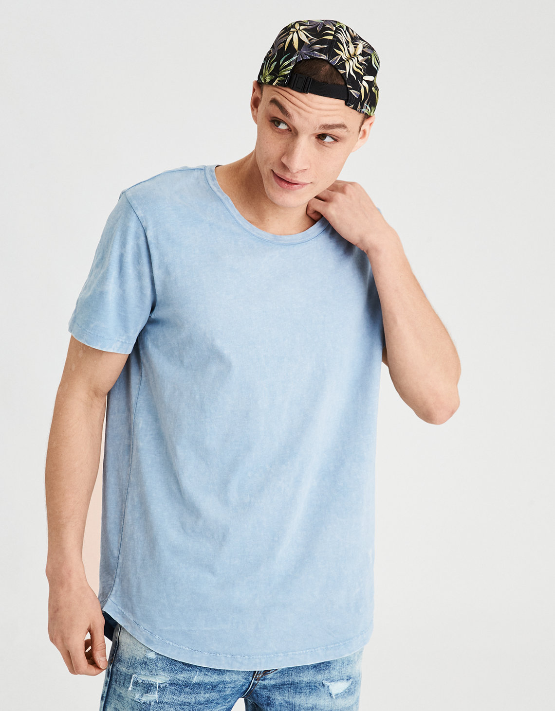 AE Longline Scoop Neck T-Shirt. Placeholder image. Product Image