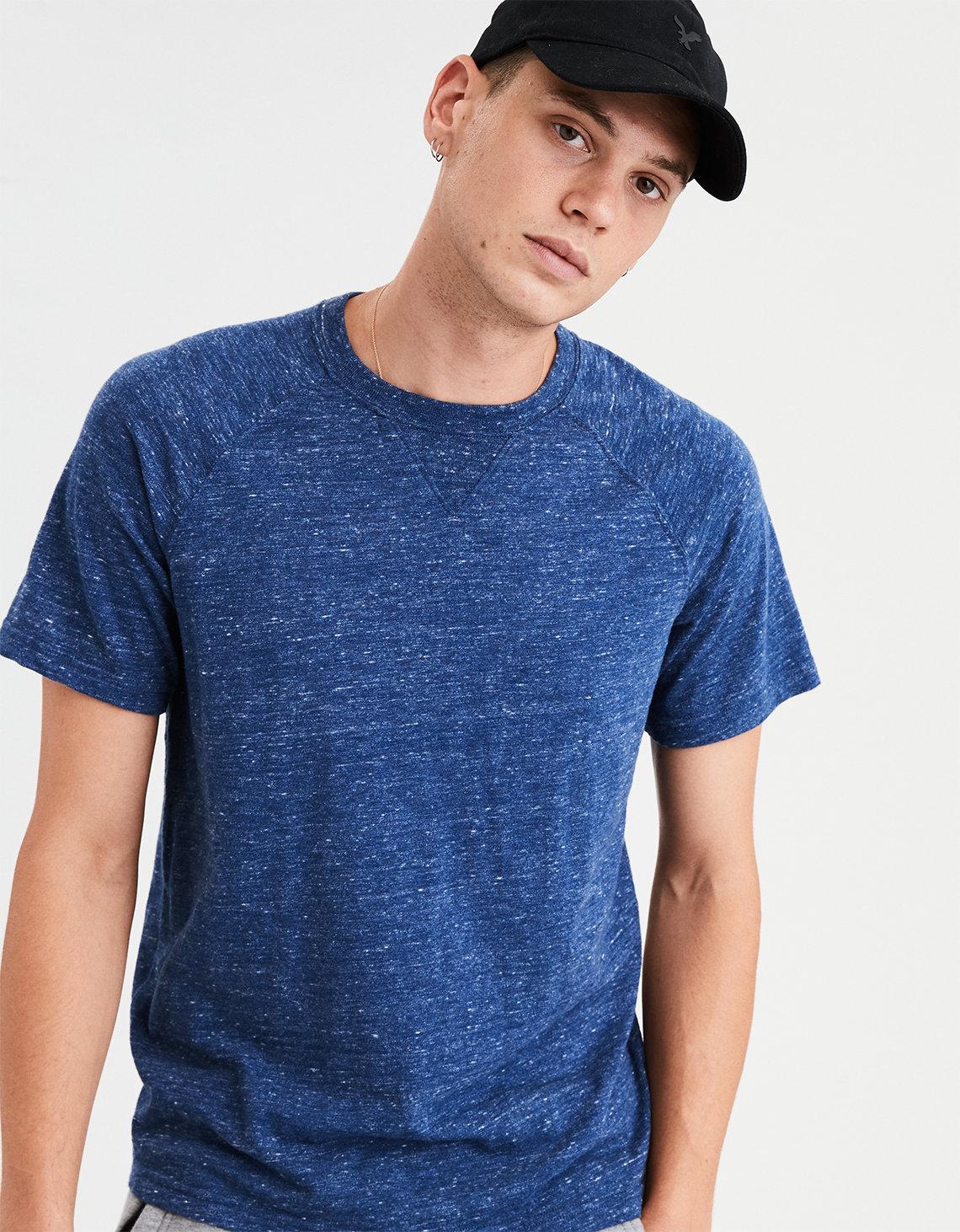 AE Slub Jersey T Shirt Blue