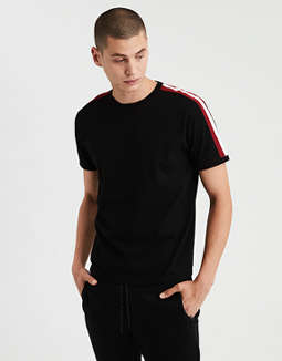 Ae Shoulder Stripe T Shirt by American Eagle Outfitters