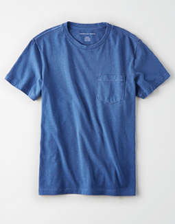 AE Garment Dyed Heather Pocket T-Shirt