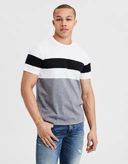 Ae Color Block Stripe Tee by American Eagle Outfitters