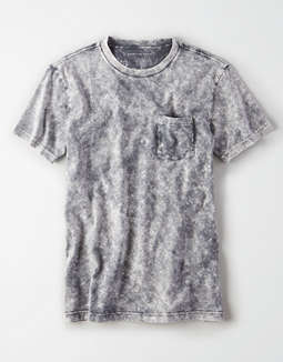 AE Short Sleeve Acid Wash Pocket T-Shirt
