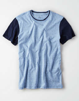 AE Short Sleeve Heathered Color Block t-shirt