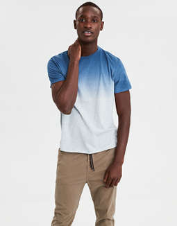 Ae Short Sleeve Dip Dye T Shirt by American Eagle Outfitters