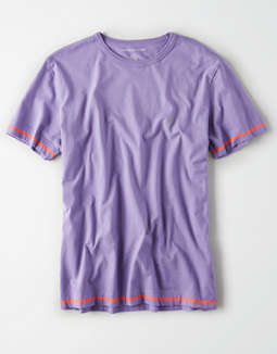 AE Short Sleeve Tipped Logo T-Shirt