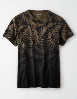 eefd91e88 placeholder image AE Tonal Leaf Print T-Shirt ...