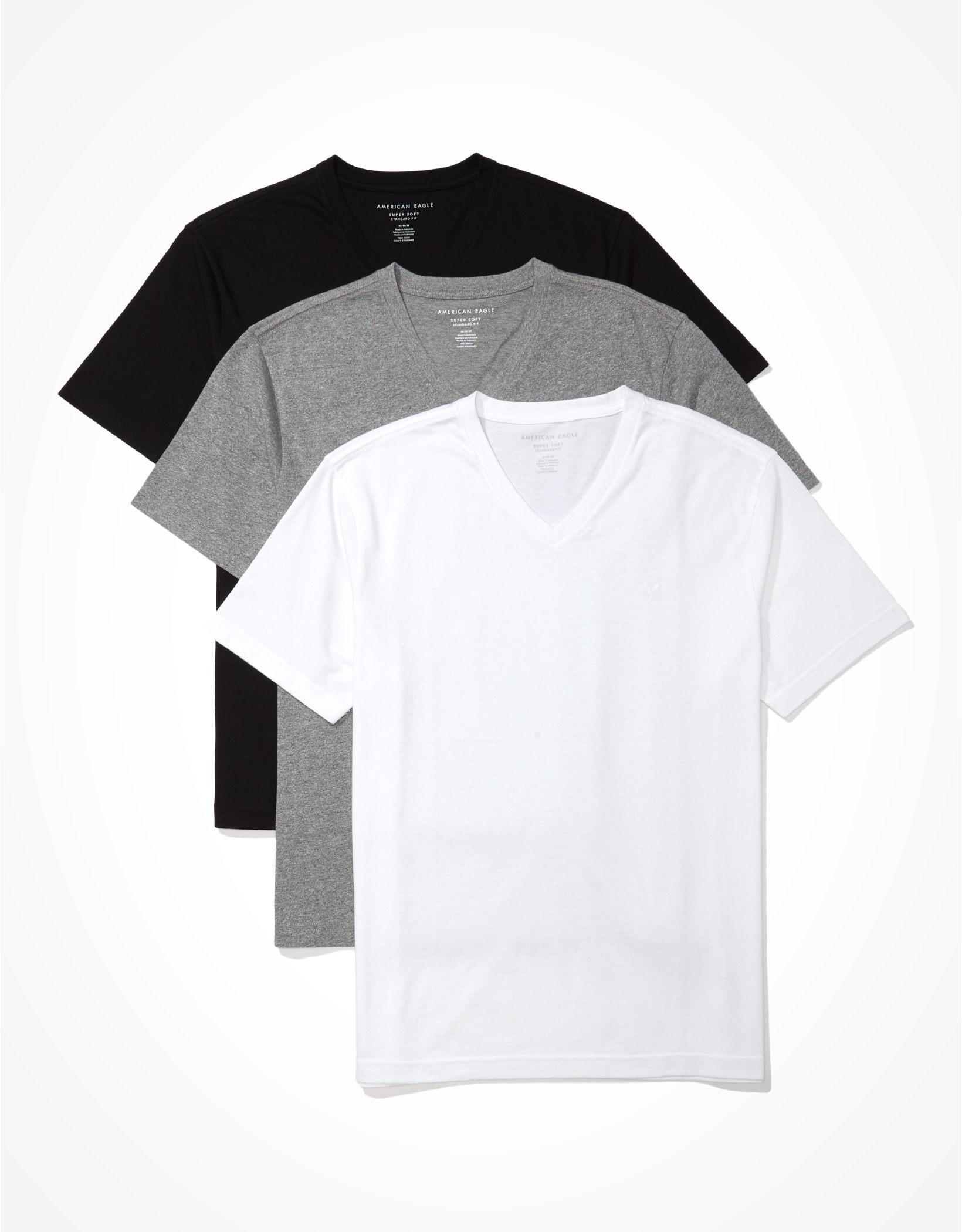 AE Super Soft V-Neck Icon T-Shirts 3-Pack
