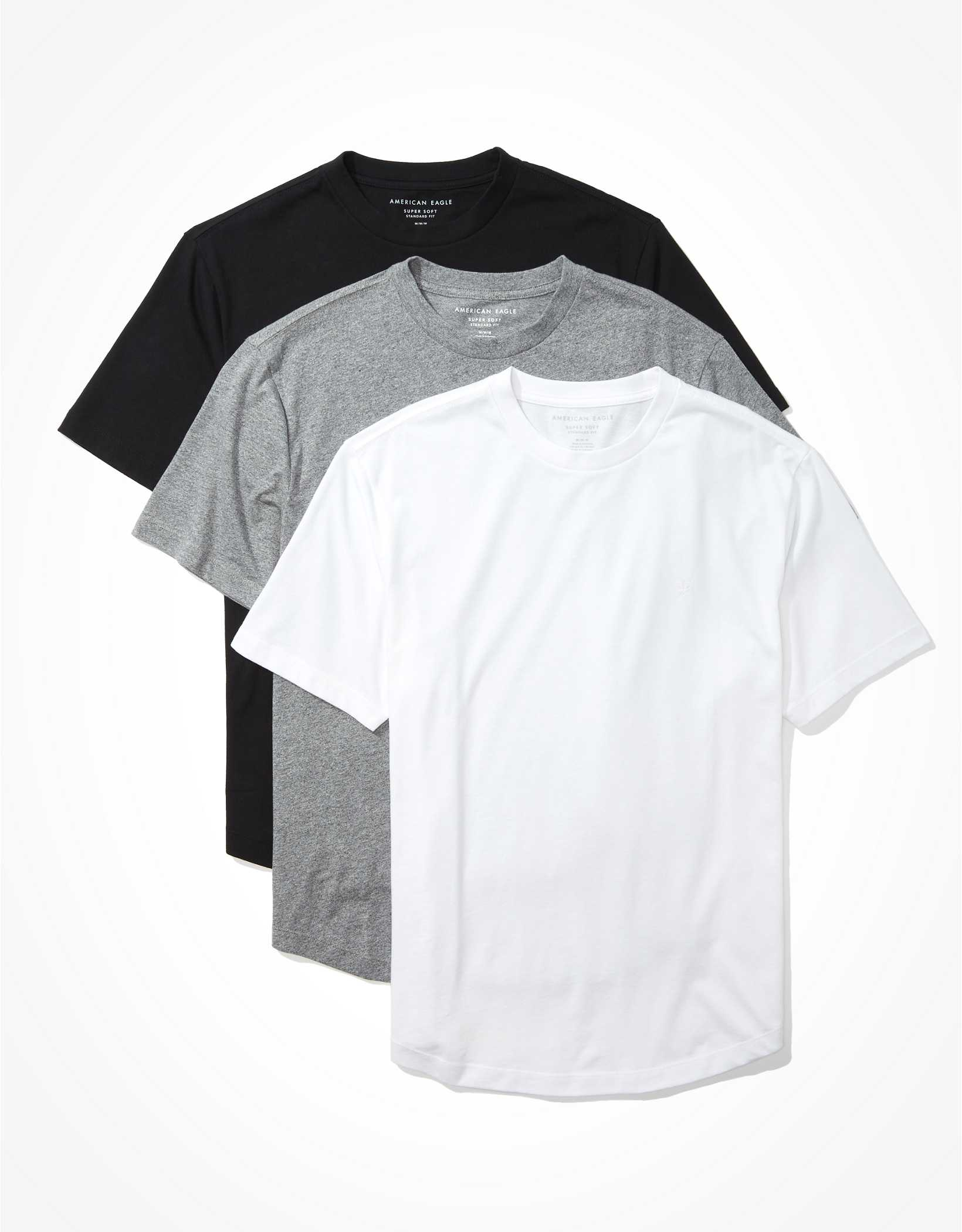 AE Super Soft Curved Hem T-Shirts 3-Pack
