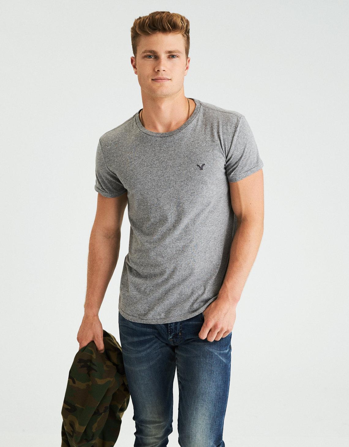 AE Slub Crew Neck T-Shirt. Placeholder image. Product Image